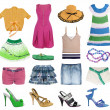 Summer clothes collection — Stock Photo #10507796