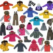 Collection of children's winter clothing — Stock Photo #10507843