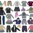 Collection of children clothes — Stock fotografie