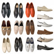 Collection of men footwear — Stock Photo