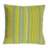 Listrado colorido travesseiro isolado no fundo branco — Foto Stock
