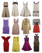 Color dress collection — Stock Photo