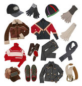 Winter clothes for men — Stock Photo