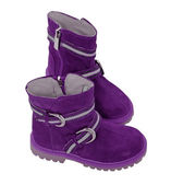 Violet boots — Stock Photo