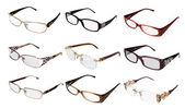 Collection eye glasses — Stock Photo