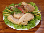 Meat salad — Stock Photo