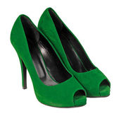 Green shoes — Stok fotoğraf