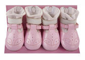 Baby pink shoes — Foto Stock