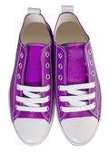 Violet sport shoes — Stock Photo