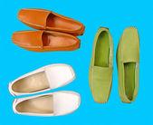 Kolekce barva muži boty — Stock fotografie
