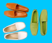 コレクションの色の男性の靴 — ストック写真