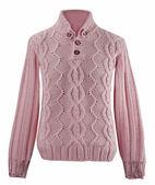 Розовый шерстяной свитер — Стоковое фото