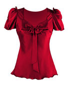 Red silk blouse — Foto Stock