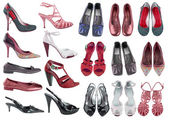 Collection women shoes — Stock Photo