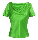 Green blouse — 图库照片