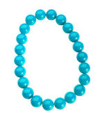 Blue beads — Stock Photo