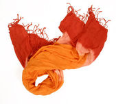 Orange red hippie scarf — Stock Photo