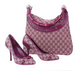 Women bag and shoes — Stock Photo
