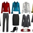 Collection dress and clothes — Stock Photo