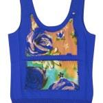 Blue vest t-shirt — Stock Photo