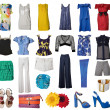 Stock Photo: Collection of icons of different clothes and accessories for the Internet and banners