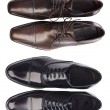Collection men leather shoes — Stock Photo