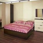 Beige bedroom — Stock Photo