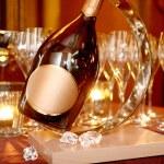 święta bożego narodzenia szampan — Zdjęcie stockowe