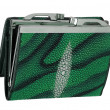 Stock Photo: Green purse