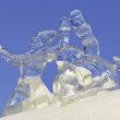 Royalty-Free Stock Photo: Competition ice sculptures, works of the best sculptors of the Ural ranked prizes