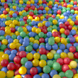 Colored plastic balls background - Stock Photo