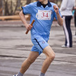 "75 th traditional relay race ""Spring Victory"" - Stock Photo"