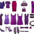 Collection of clothing and accessories - Stock Photo