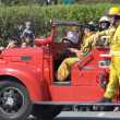 Parade of fire trucks — Stock Photo