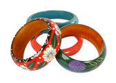 Color bracelets — Stock Photo