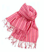 Pink strip scarf — Stock Photo