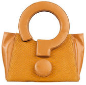 Yellow woman fashion bag — Stock Photo