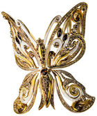 Gold butterfly — Stock Photo