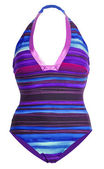 Blue striped swimsuit — Stock Photo