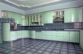 Green kitchen — Stock Photo