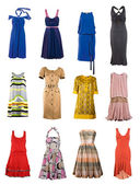 Collection color dress — Stock Photo