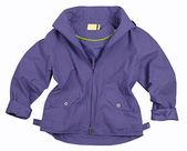 Blue silk blouse shirt jacket — Stock Photo