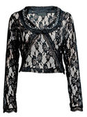Black lace blouse — Stock Photo