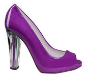 Violet shoe — Stock Photo