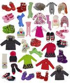 Coleção de roupas de crianças — Foto Stock