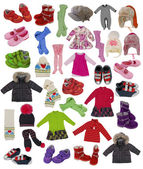 Collection of children clothes — Stock Photo