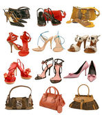Shoes and bag collection — Stock Photo