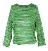 Green striped sweater — Stock Photo