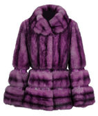 Manteau de fourrure violet — Photo