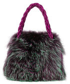 Fur bag — Stock Photo